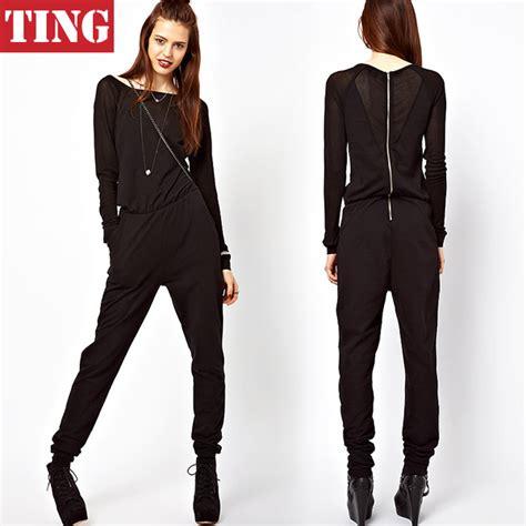 2015 new fashion high street 2015 new fashion black women long sleeve jumpsuits