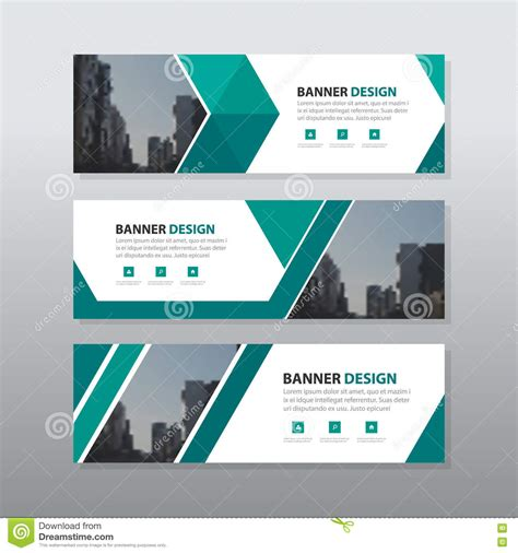 corporate template green triangle abstract corporate business banner template