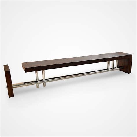 l bench rotsen l bench reclaimed canela wood and stainless steel