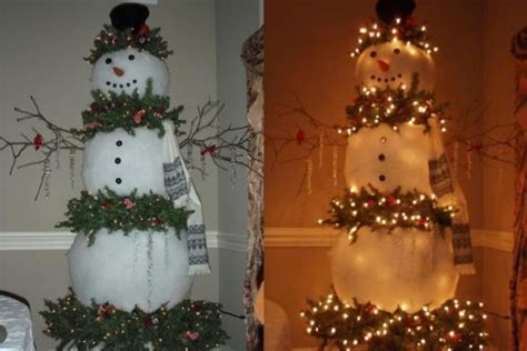 christmas tree decorated with snowmen 30 outdoor decoration ideas the xerxes