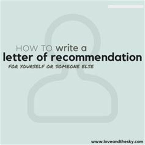 Recommendation Letter Yourself letter of recommendation r sheffield search