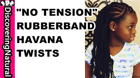 protective hair styles with no tension on the edges quot no tension quot rubber band twists havana twists protective