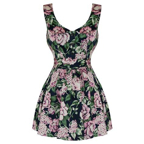 Dress Pink Floral hearts and roses blue pink floral 1950s mini dress dresses starlet vintage