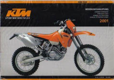2001 Ktm 400 Exc Review 2001 Ktm 400 520 Sx Mxc Exc Motorcycle Owners Handbook