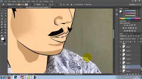tutorial adobe photoshop cs3 vector tutorial simple vector photoshop cc youtube