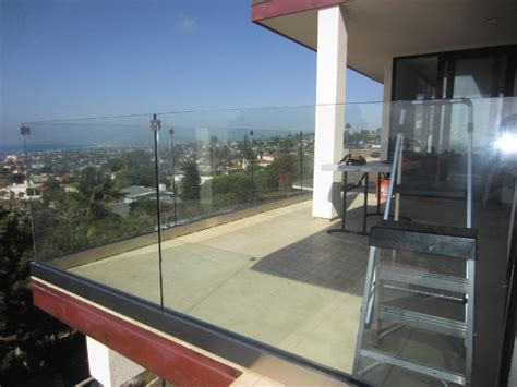 Tempered Glass Balcony glass railing san diego coastline patriot glass and