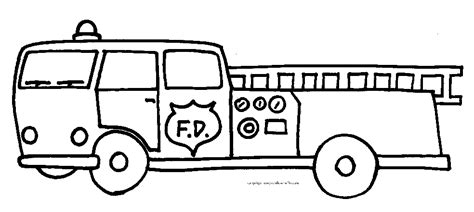 Fire Truck Coloring Pages Firetruck Color Page