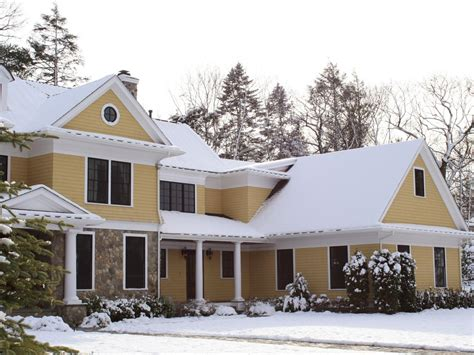 snow home tips for winter curb appeal hgtv