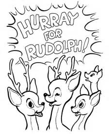 rudolph the nosed reindeer coloring pages rudolph the nosed reindeer coloring page coloring home
