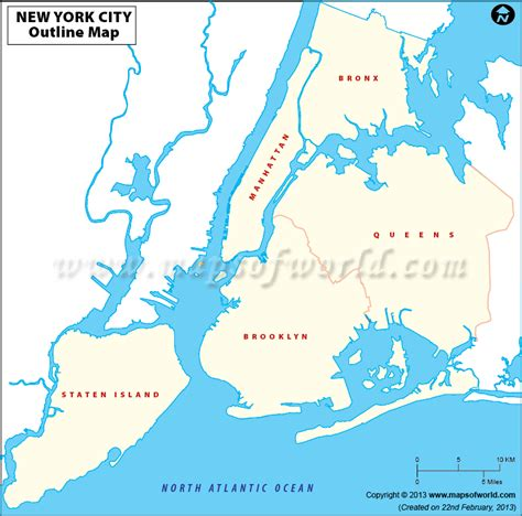 new york city usa map blank map of new york city new york city outline map
