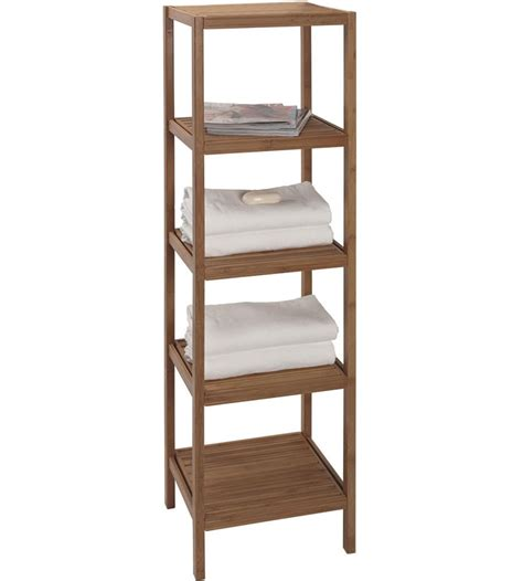 Bamboo Shelving Unit In Bathroom Shelves Bathrooms Shelves
