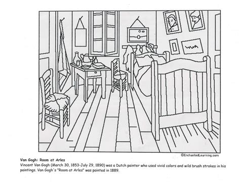 Bedroom At Arles Elements 16 Best Images About Coloring Pages On