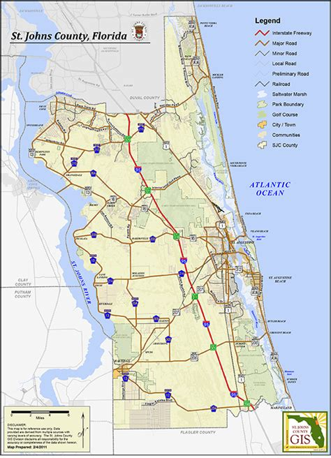 map of st county florida maps