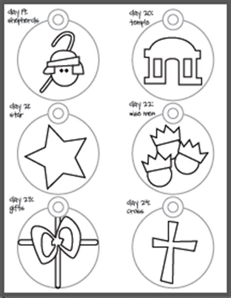 printable jesse tree ornaments free printable jesse tree ornaments coloring pages disciples
