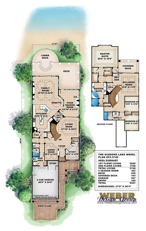 narrow lot lake house plans diamond lake house plan weber design group