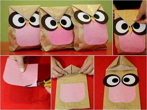 How To Make A Paper Bag Owl - diy owl sandwich paper bag home design garden