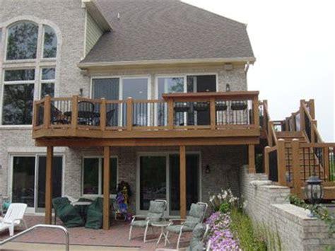 second floor deck plans basement entrance ideas second story deck designs simple