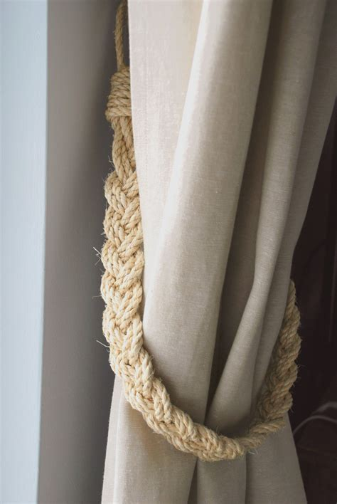 curtain ropes rustic natural sisal rope curtain tiebacks shabby chic vintage