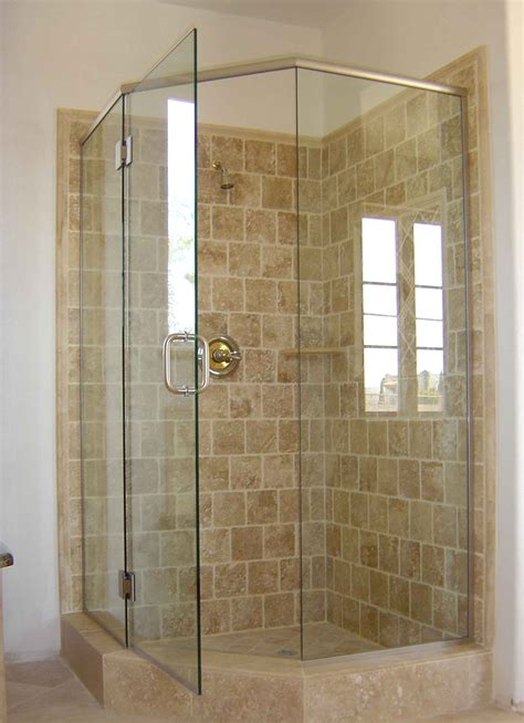 Bathroom Shower Stalls Upstairs Bathroom Corner Shower Pinteres