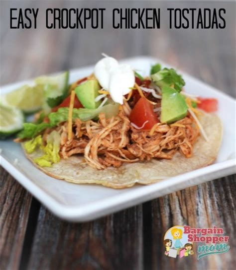 easy crock pot chicken tostadas recipe