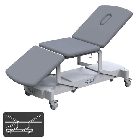 electric examination couch acero 3 section all electric examination couch