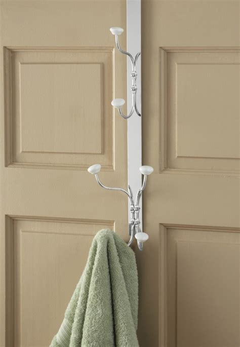 bathroom door rack bathroom door towel robe hanger hook rack organizer iron w