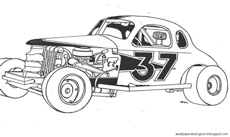 coloring pages of stock cars dirt track race car drawing wallpapers background