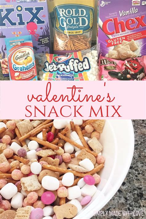 valentines snacks simply made with s snack mix