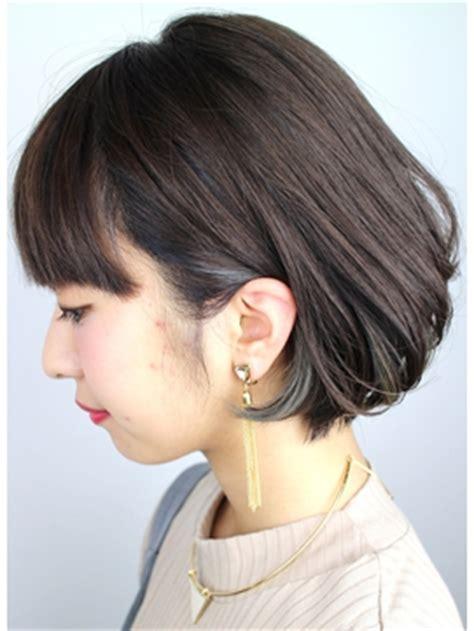 【2017年秋】ミディアム インナーカラーのヘアスタイル・ヘアアレンジ・髪型|biglobe beauty