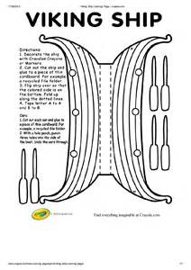 longboat template free viking ship coloring pages