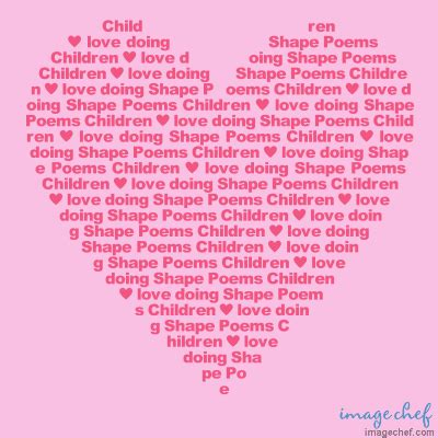 themes of love poems shape poems for kids exles