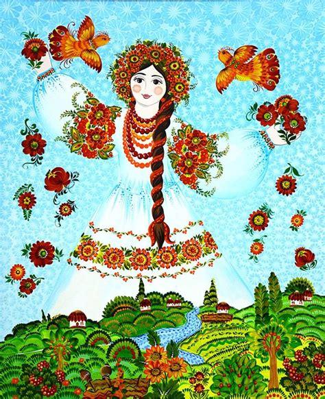 oh christmas string folk art petrykivka painting by victoriya tymoshenko ukraine oh my dear ukraine