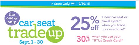 toys r us trade in babies r us trade in car seat event 2015 up to 30
