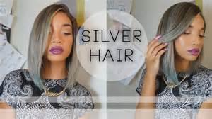 coloring grey american hair hair silver hair color tutorial raven elyse youtube