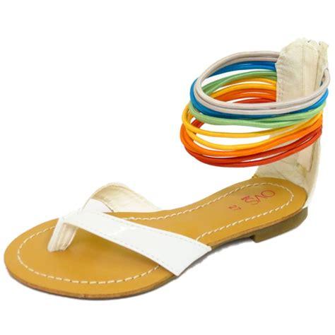 white toddler sandals size 7 childrens white toe post gladiator sandals flip