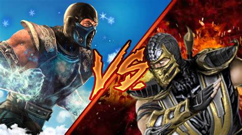 Lemari Es Sub Zero sub zero vs scorpion batalha dos deuses