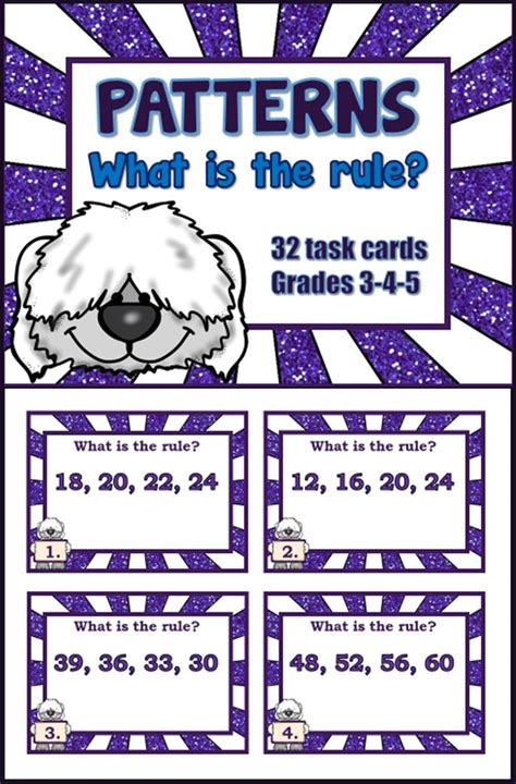 pattern rules grade 5 patterns test grade 5 unit test 1 number patterns grade