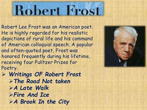 robert frost biography for students history of english language