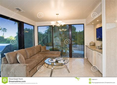 Room Patio Living Room With View Of Patio Stock Image Image 33891911
