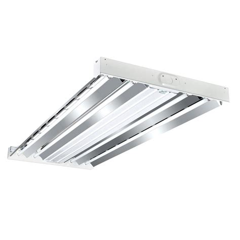 T8 Fluorescent Light Fixtures Metalux 4 Ft 4 L White T8 Fluorescent Industrial Grade High Bay Light Fixture Hbl432rt2