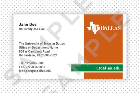 Uw Business Card Template by Business Cards Dallas Printing Services Brand Standards