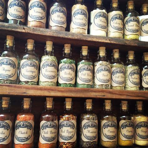 Best Spice Rack Diy Vintage Apothecary Spice Bottles Homemaker Chic