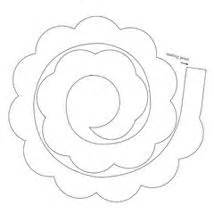 Rolled Paper Roses Template by Templates Wafer Paper Flowers Zoeken Templates