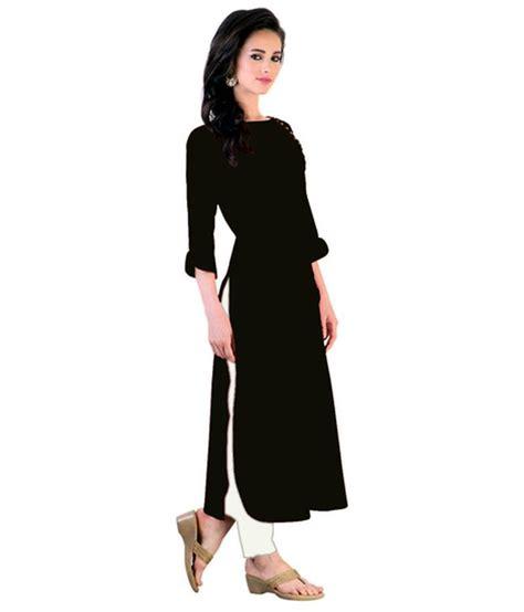 black and white kurti patterns buy black plain rayon long kurtis online