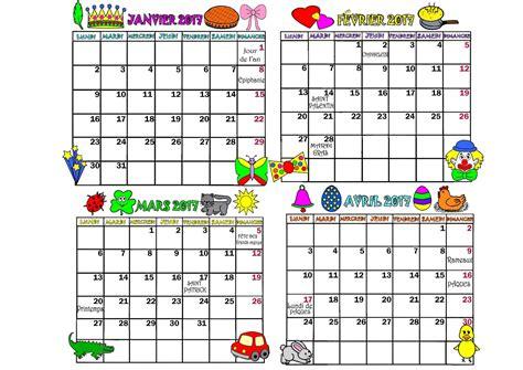 Janvier Calendrier 2017 Calendrier 2017 Mois De Janvier Fevrier Mars Avril