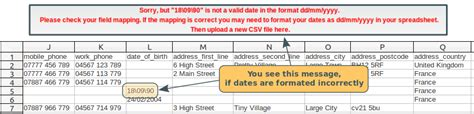 Csv Wrong Format | csv issues