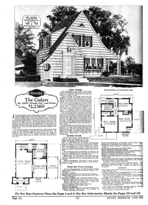 sears kit homes floor plans sears home fairytale cottages pinterest