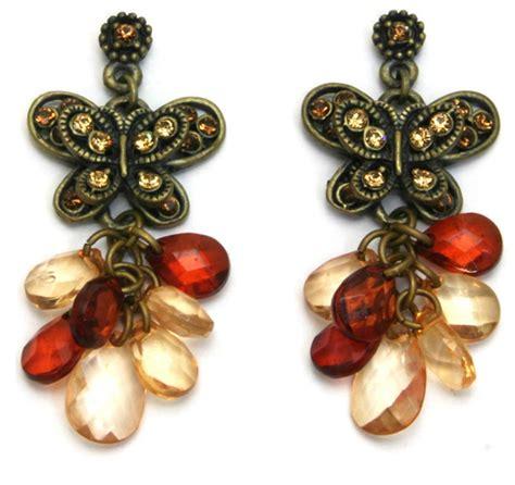 butterfly beaded earrings butterfly earrings beaded jubilee gift shop