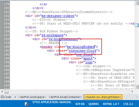 div code branding sharepoint 2013 tricks 6 hiding elements in