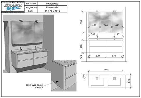 meuble salle de bain blanc et gris